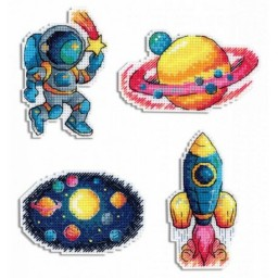 Cross Stitch Kit SPACE. MAGNETS R-576 Pre-order