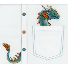Cross Stitch Kit Embroidery on clothes Noble Dragon V-252