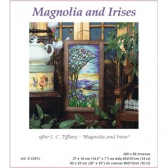 Cross stitch Chart Magnolia and Irises after L.C.Tiffany S2241J