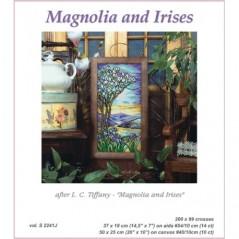 Cross stitch Chart Magnolia and Irises after L.C.Tiffany S2241J