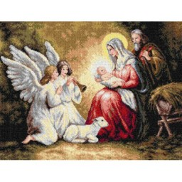 TAPESTRY CANVAS The Birth of Christ 50X70cm 2296R