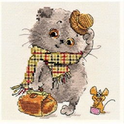 Cross Stitch Kit Basik and Milena. Little quests art. 0-177