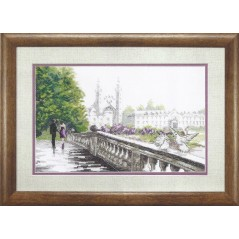 Cross Stitch Kit Bridge on lovers BT-061