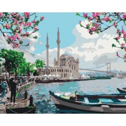 PAINT BY NUMBERS KIT Turkish coast 40 x 50 cm КНО2166 Framed