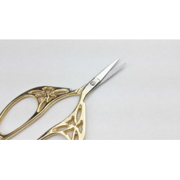 Vintage Retro Scissors Gold Plated Exquisite Handicrafts Sewing
