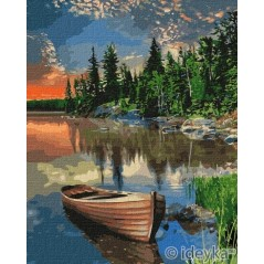 PAINT BY NUMBERS KIT Cozy place 40 x 50 cm КНО2296 Framed