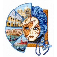 Cross Stitch Kit Venetian mask V-29