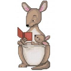 Cross Stitch Chart Kangaroo PDF Pattern