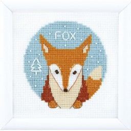 Cross Stitch Kit Animal world. Fox BT-197