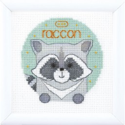 Cross Stitch Kit Animal world. Raccoon BT-204