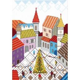 Cross Stitch Kit Holiday Square BT-245