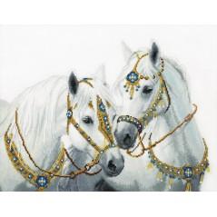 Cross Stitch Kit Wedding Horses BT-249