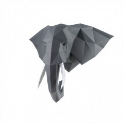 3D PAPERCRAFT KIT ELEPHANT PP-1SLV-GRA
