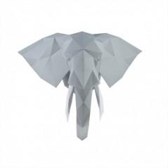 3D PAPERCRAFT KIT ELEPHANT PP-1SLV-GRE