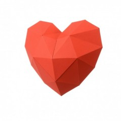 3D PAPERCRAFT KIT HEART PP-2HRT-RED